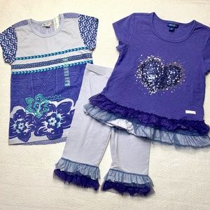 NAARTJIE 6 7 Outfit Summer Bundle Shirts Leggings